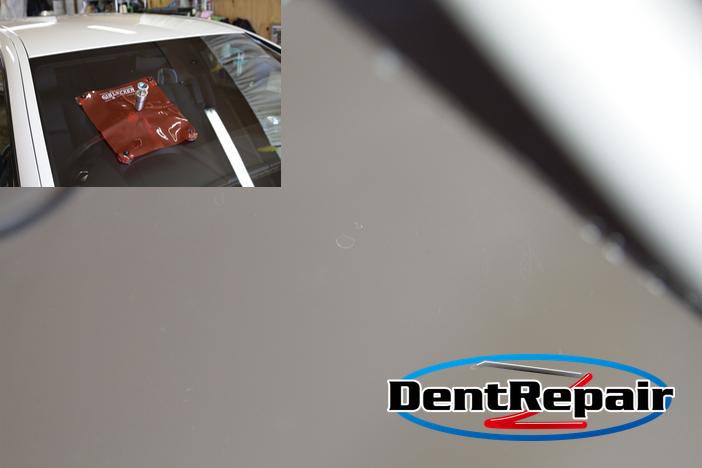 BMW運転席前のひび、修理後の写真!!