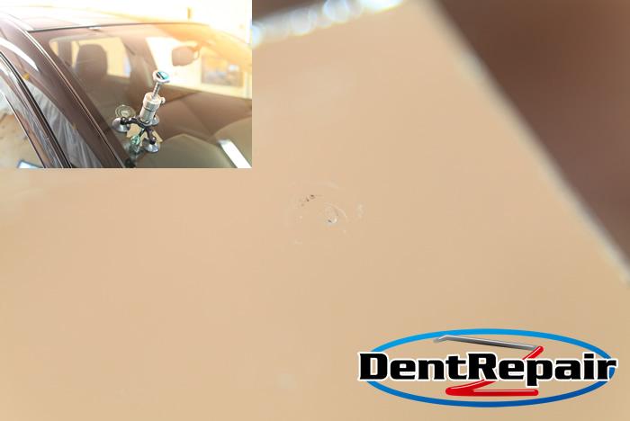 CX-5運転席側のひび、修理後の写真