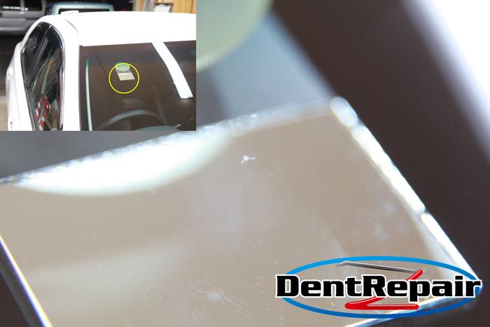 マークX運転席前のチッピング、修理後の写真
